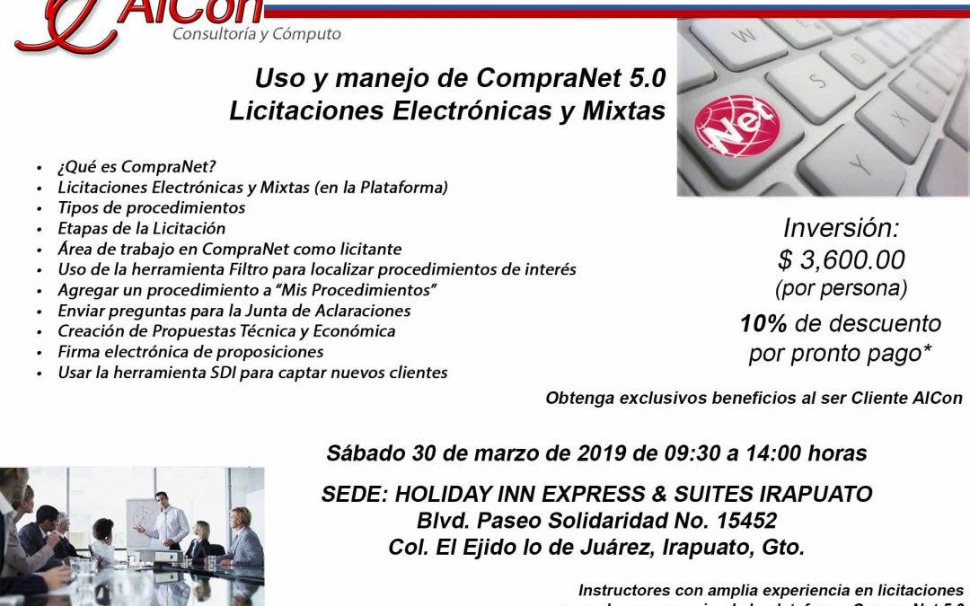 Curso de CompraNet 5.0, Irapuato, Gto.
