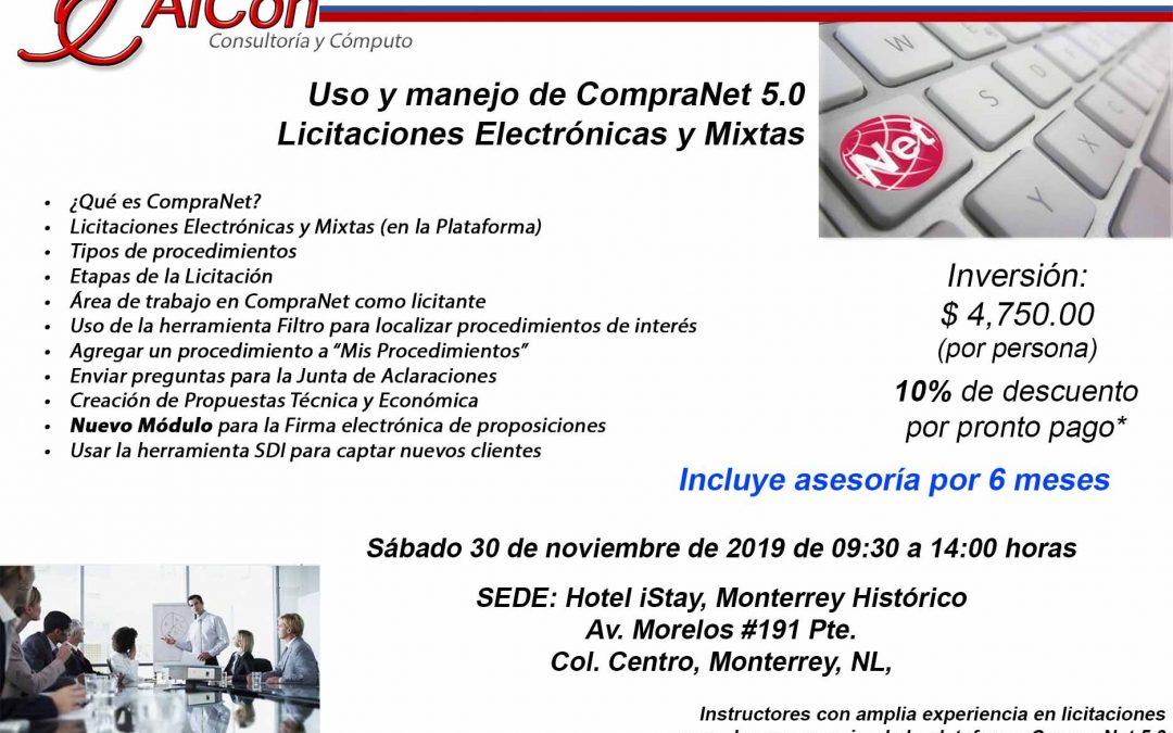 Curso de CompraNet 5.0 Monterrey, Nuevo León