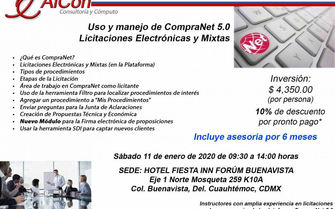 Curso de CompraNet 5.0, Ciudad de México