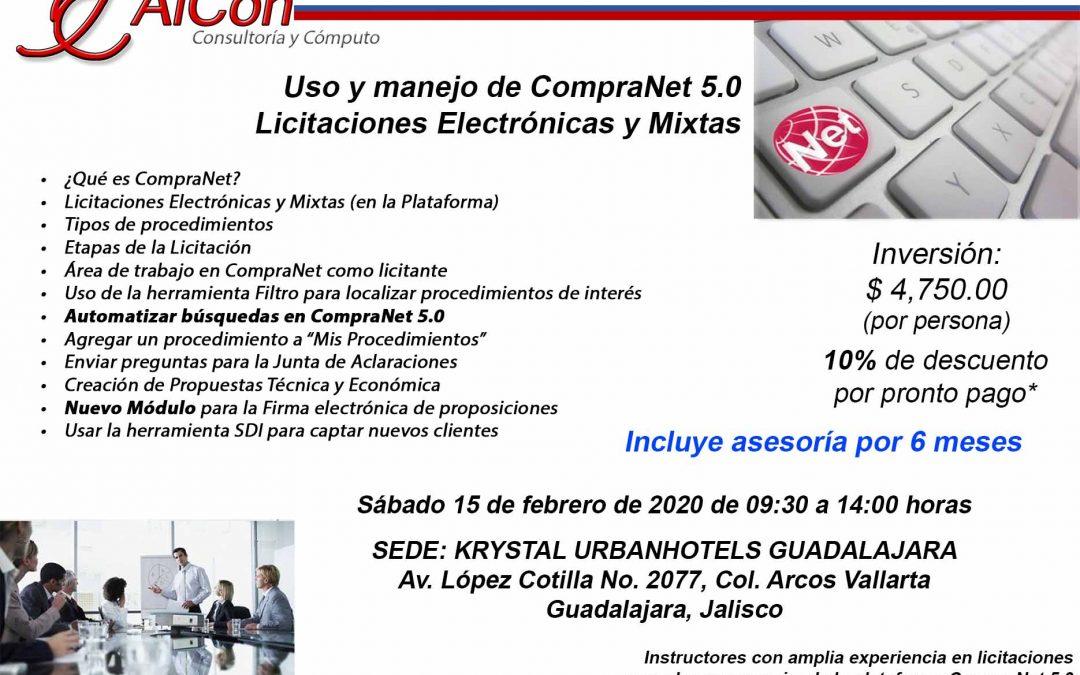 Curso de CompraNet 5.0, Guadalajara