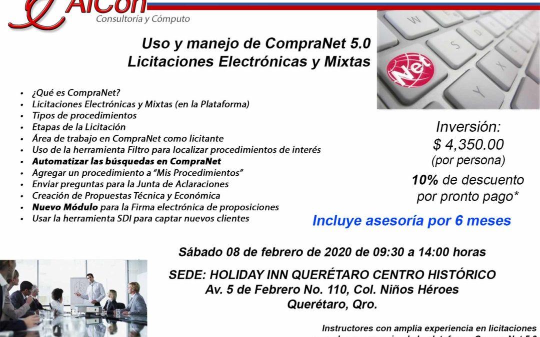 Curso de CompraNet 5.0, Querétaro