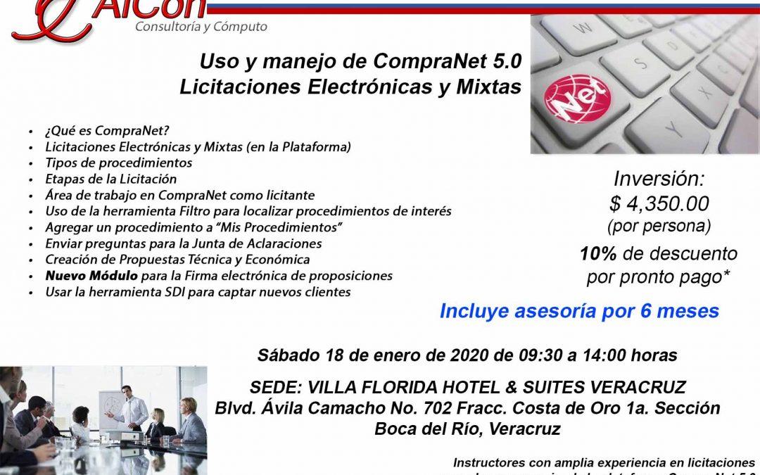 Curso de CompraNet 5.0, Veracruz