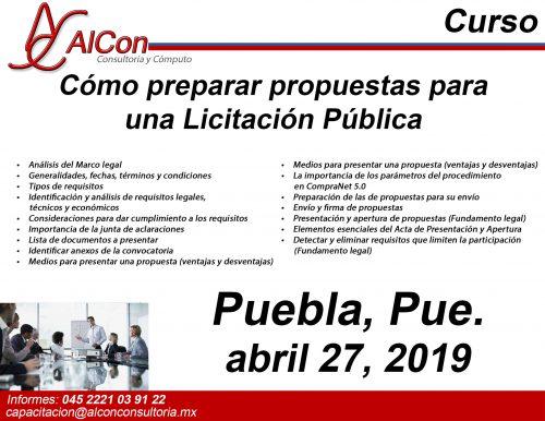Preparar Propuestas para una licitación pública, AlCon Consultoría y Cómputo Arcadio Alonso Sánchez