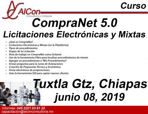 Curso de CompraNet 5.0, Tuxtla Gutiérrez Chiapas AlCon Consultoría y Cómputo Arcadio Alonso Sánchez