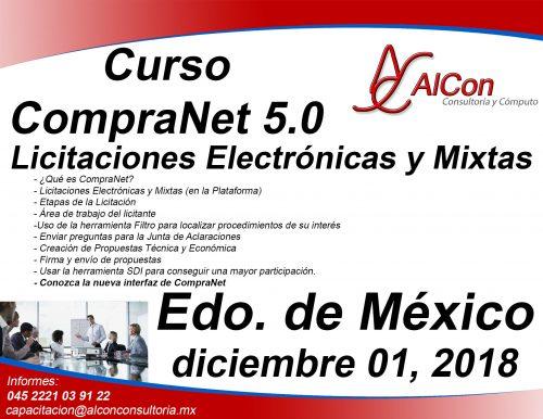 Curso CompraNet 5.0 para licitantes, Estado de México
