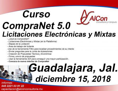 Curso CompraNet 5.0 para licitantes Guadalajara, Jal. Arcadio Alonso Sánchez