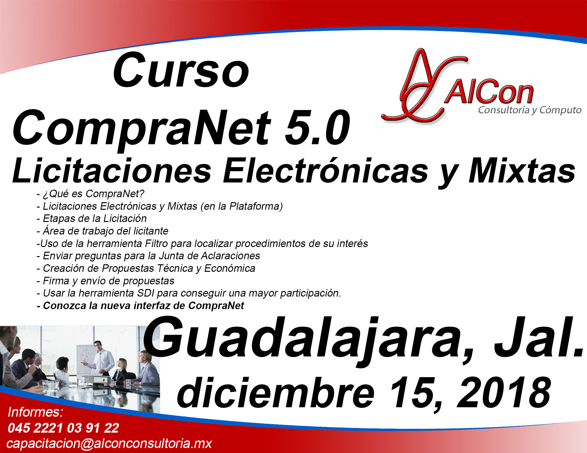 Curso CompraNet 5.0 para licitantes  Guadalajara, Jal.