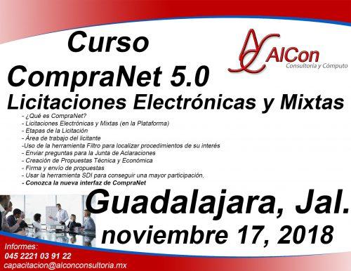 Curso CompraNet 5.0 para licitantes, Guadalajara, Jalisco Arcadio Alonso Sánchez