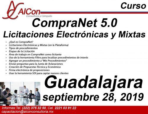 Curso de CompraNet 5.0, Guadalajara, Jal., AlCon Consultoría y Cómputo, AlCon Consulting And Commerce