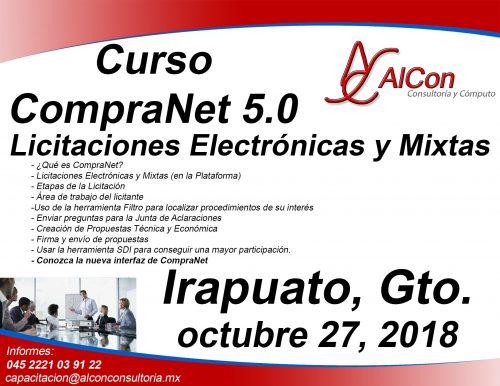 Curso CompraNet 5.0 Irapuato, Gto.