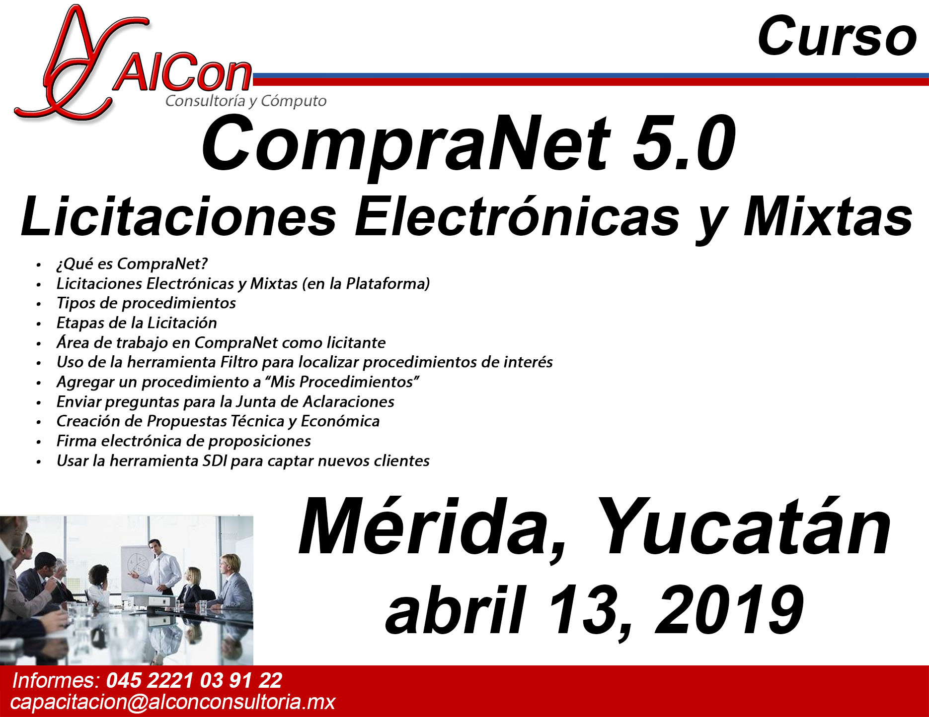 Curso CompraNet 5.0 Mérida, Yucatán