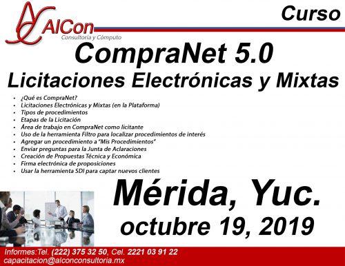 Curso de CompraNet 5.0, Mérida, Yucatán, AlCon Consultoría y Cómputo, AlCon Consulting And Commerce