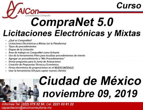 Curso de CompraNet 5.0, Ciudad de México (CDMX), AlCon Consultoría y Cómputo, AlCon Consulting And Commerce, Arcadio Alonso Sánchez