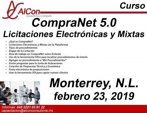 Curso CompraNet 5.0 Monterrey, Nuevo León Arcadio Alonso Sánchez AlCon Consultoría y Cómputo