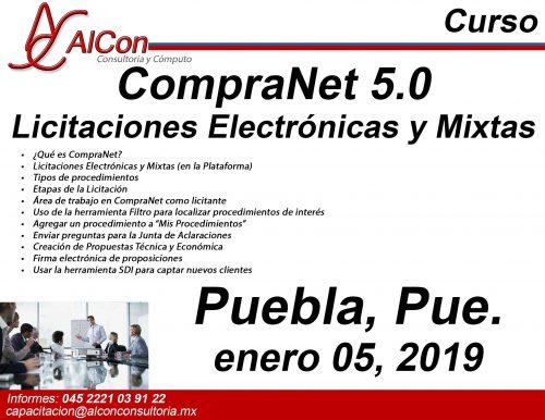Curso para licitantes CompraNet 5.0 Puebla Arcadio Alonso Sánchez