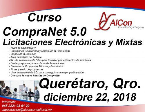 Curso CompraNet 5.0 para licitantes, Querétaro, Qro. Arcadio Alonso Sánchez