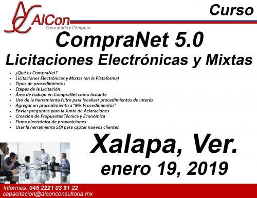 Curso CompraNet 5.0 Xalapa, Ver., Arcadio Alonso Sánchez