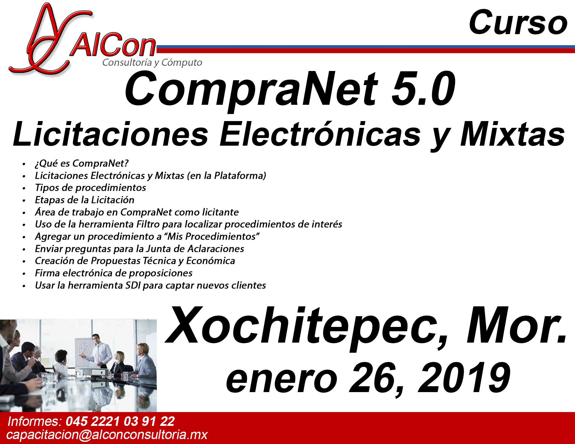 Curso CompraNet 5.0 Xochitepec, Morelos