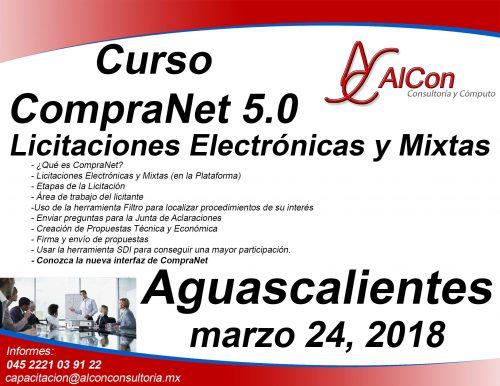 Curso 5.0 CompraNet Aguascalientes