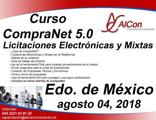Curso CompraNet 5.0, Estado de México