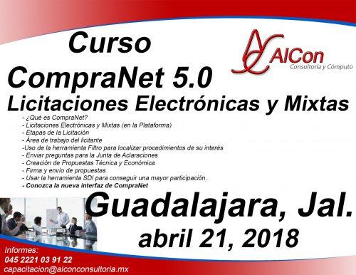 Curso CompraNet 5.0 Guadalajara, Jalisco