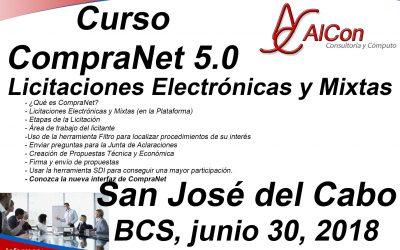 Curso de CompraNet 5.0, San José del Cabo, BCS
