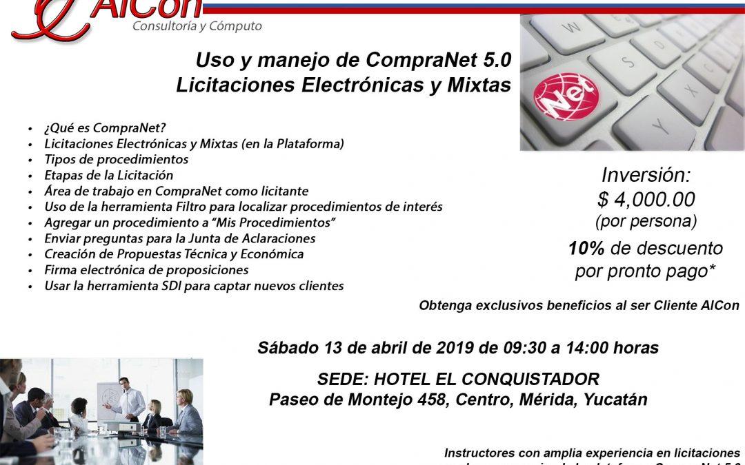Curso de CompraNet 5.0, Mérida, Yuc.