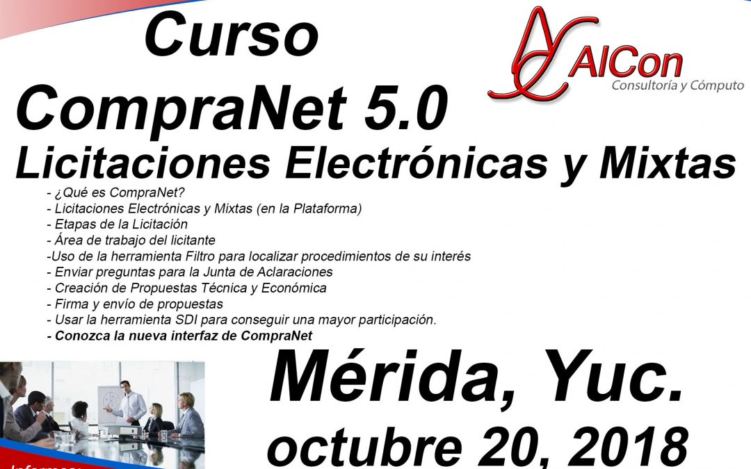 Curso de CompraNet 5.0, Estado de México