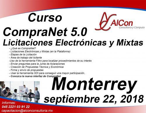 Curso CompraNet 5.0 Monterrey, Nuevo León