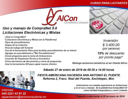 Curso CompraNet 5.0, Xochitepec, Mor.