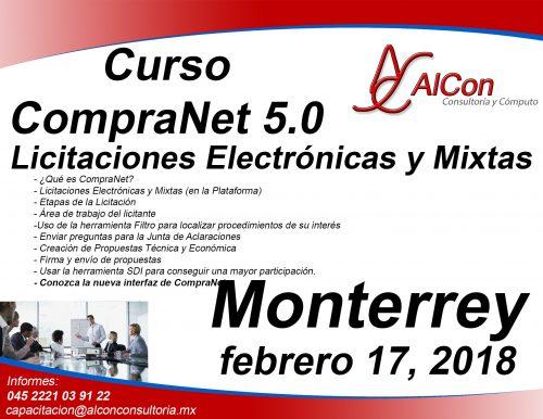 Curso CompraNet 5.0, Monterrey