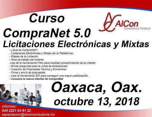 Curso CompraNet 5.0 Oaxaca