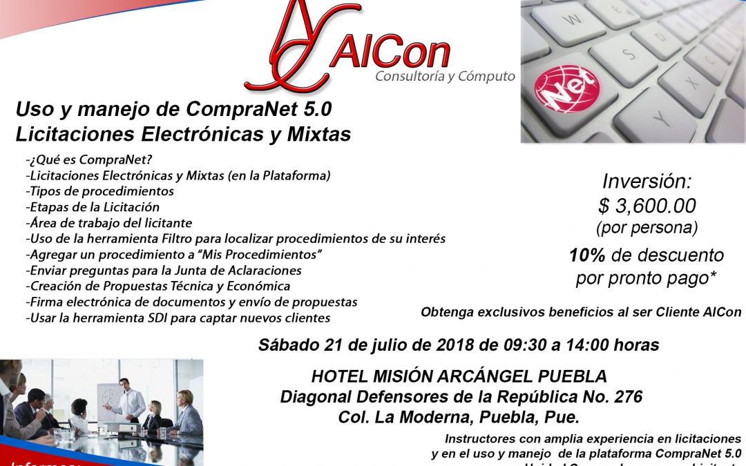 Curso de CompraNet 5.0, Puebla