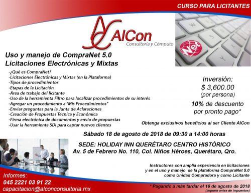 Curso CompraNet 5.0 Querétaro