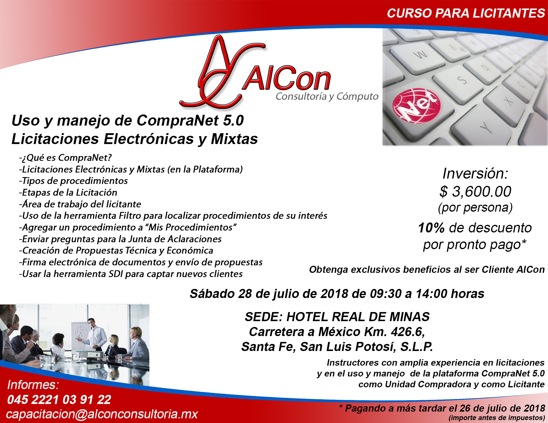 Curso CompraNet 5.0, San Luis Potosí