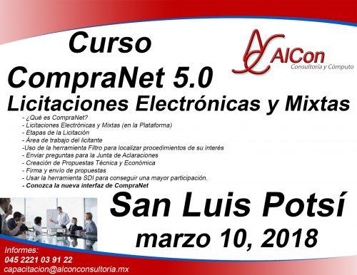 Curso CompraNet San Luis Potosí