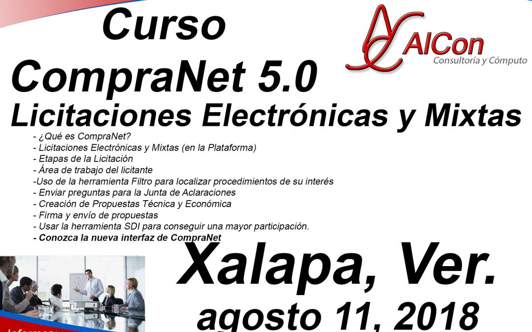 Curso de CompraNet 5.0, Xalapa