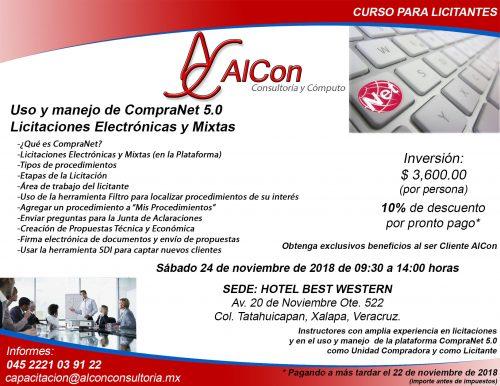 Curso CompraNet 5.0 para licitantes, Xalapa, Veracruz Arcadio Alonso Sánchez
