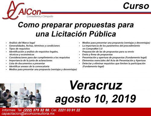 Preparar Propuestas para una Licitación Pública, Veracruz, AlCon Consultoría y Cómputo, AlCon Consulting And Commerce Arcadio Alonso Sánchez, AlCon C&C